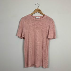 Sandro Paris Pink Linen Short Sleeve T-Shirt M
